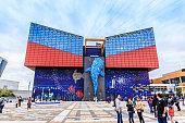 Osaka, Japan - November 19, 2018: The Osaka Aquarium Kaiyukan is one of the largest public aquariums in the world.