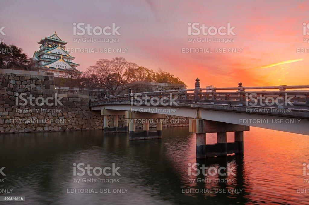 Osaka Castle in Japan royalty-free stock photo