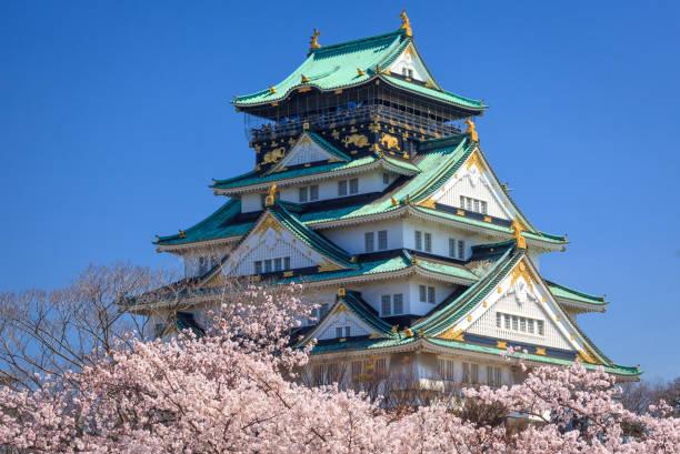 Burg von Osaka im Frühjahr, Osaka, Japan – Foto