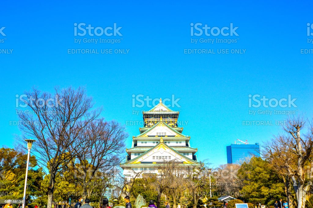 Osaka castle Japan. stock photo
