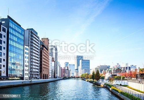 Osaka City in Autumn, Japan