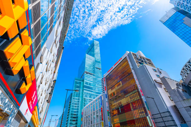 Stadtlandschaft von Osaka, Japan – Foto