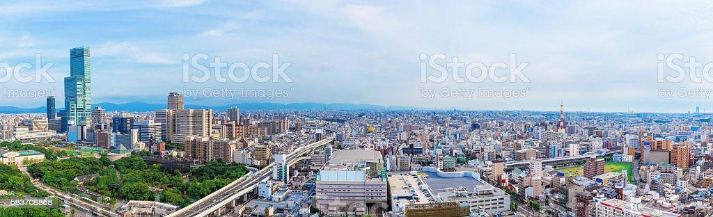 Osaka city landscape, Japan stock photo