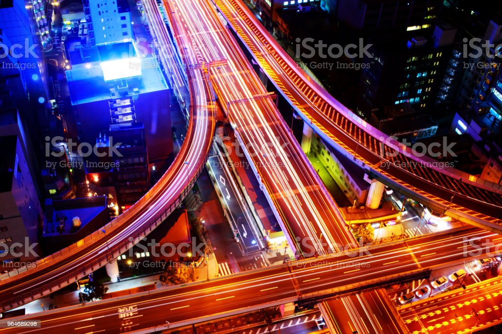 Osaka Expressway and Highway top view, Japan. royalty-free stock photo