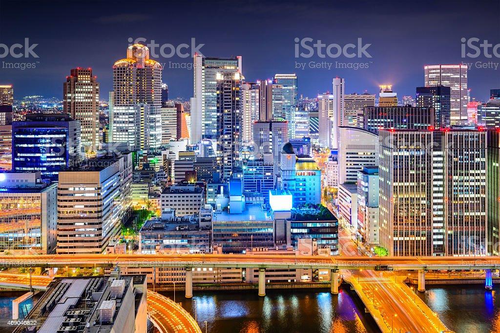 Osaka, Japan Cityscape stock photo