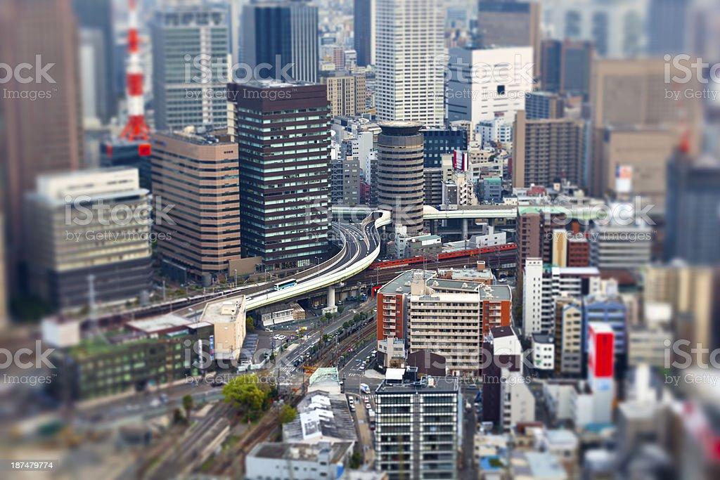 osaka, japan royalty-free stock photo