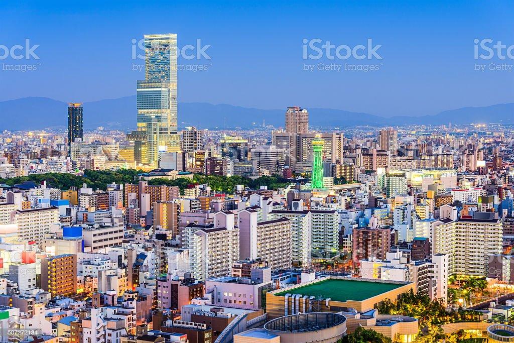 Osaka, Japan skyline stock photo