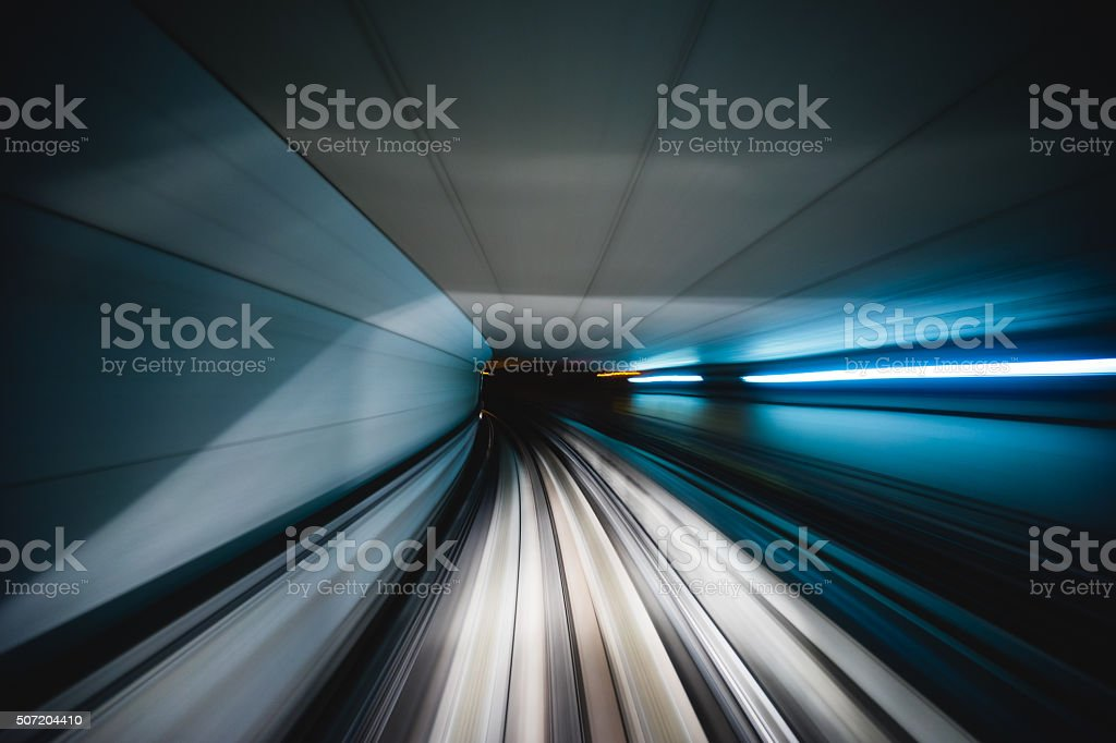 Osaka metro transit system stock photo