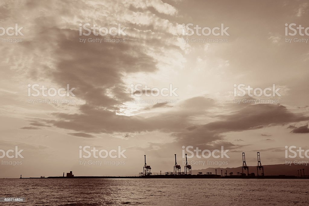 Osaka seaport royalty-free stock photo