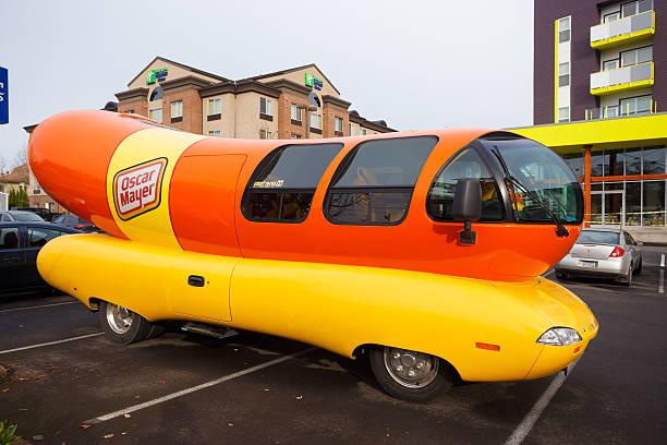 Oscar Mayer Wienermobile at University of Oregon stock photo