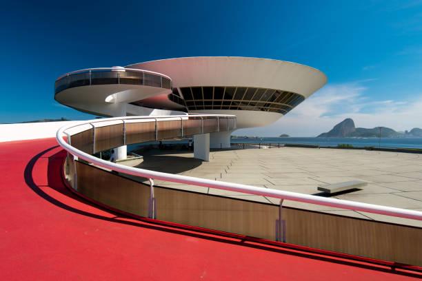 Oscar Niemeyer Contemporary Art Museum stock photo