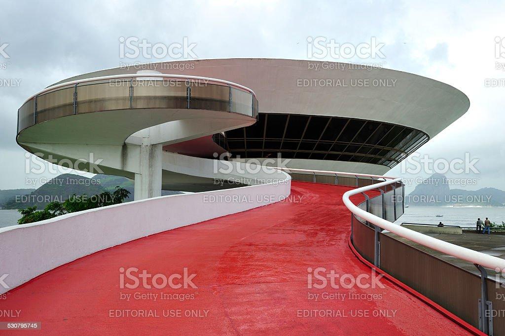 Oscar Niemeyer's Niteroi Contemporary Art Museum, Rio de Janeiro, Brazil stock photo