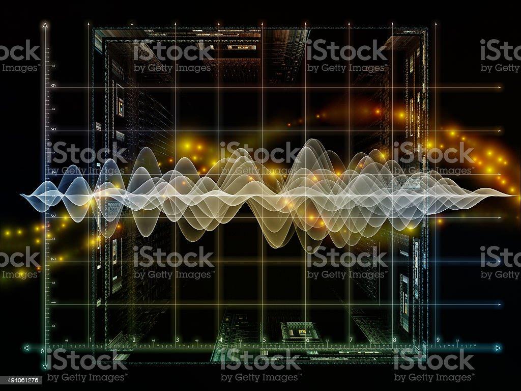 Oscillation Graph stock photo