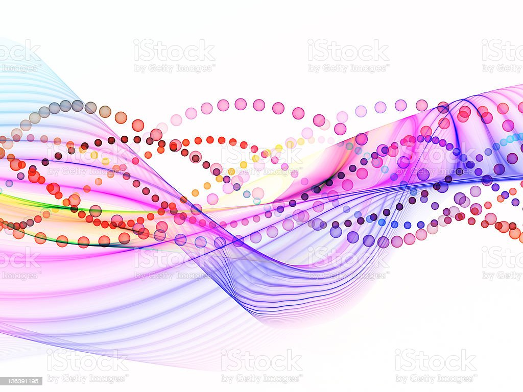 Oscillations on White royalty-free stock photo