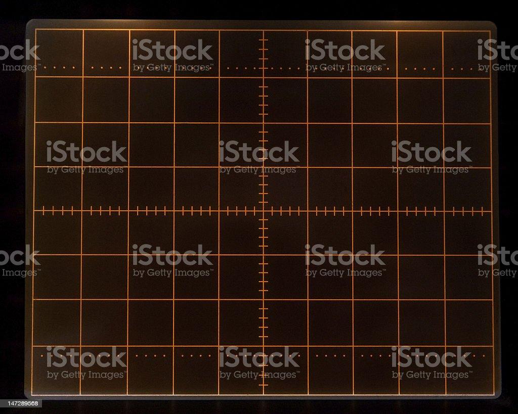 Oscillograph screen royalty-free stock photo