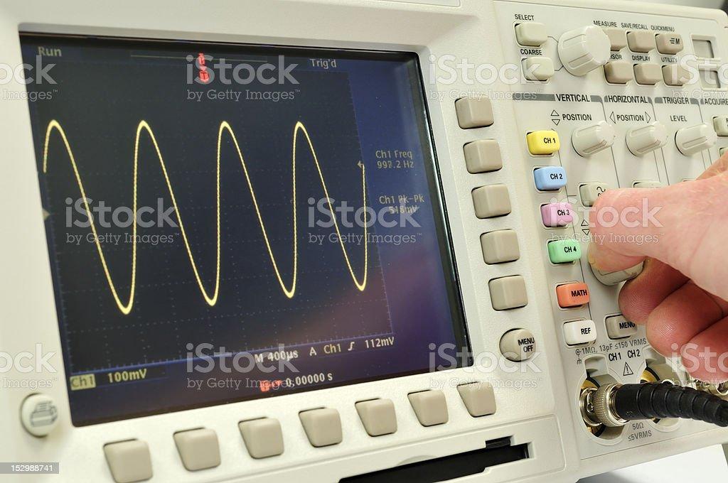 Oscilloscope royalty-free stock photo