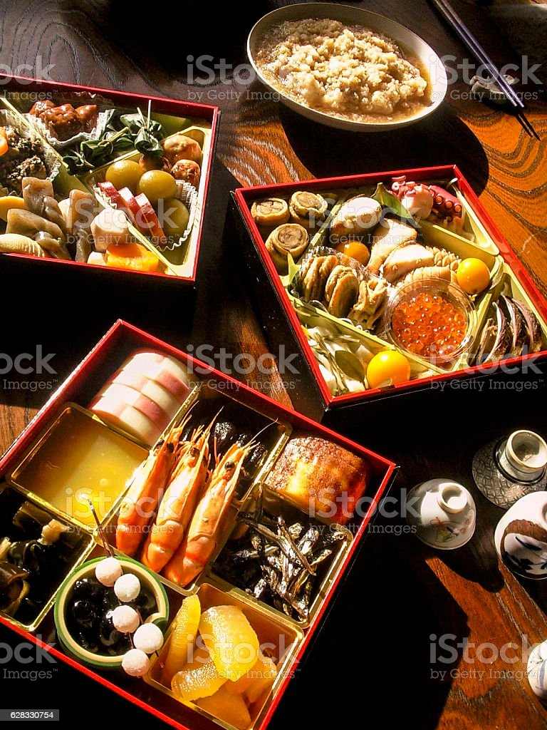 Osechi, the Traditional Japanese Food for New Year ストックフォト