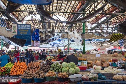 istock Osh Bazaar in Bishkek, Kyrgyzstan 857111008
