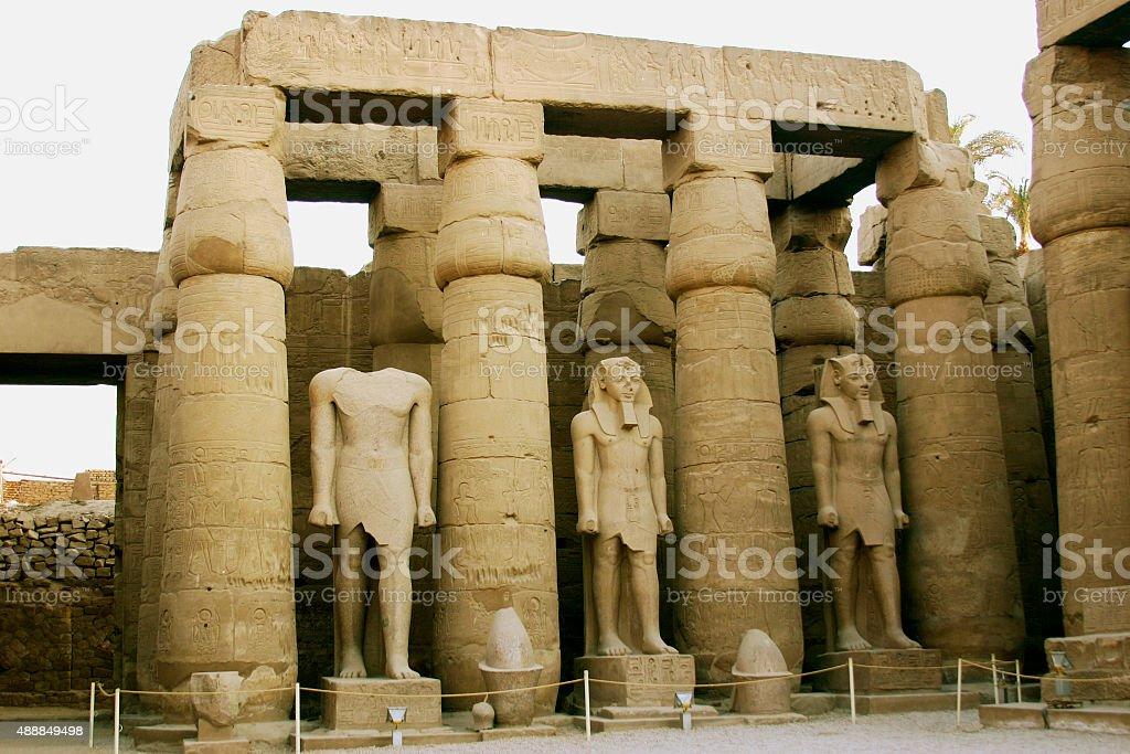 Osirian Statues at Luxor Temple stock photo