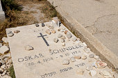 Jerusalem, Israel -  September 19, 2019: The burial place of Oskar Schindler, located on on the Mont Sion