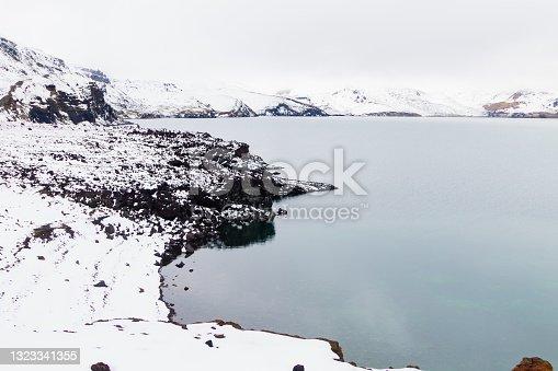 istock Oskjuvatn lake at Askja, central Iceland landmark 1323341355