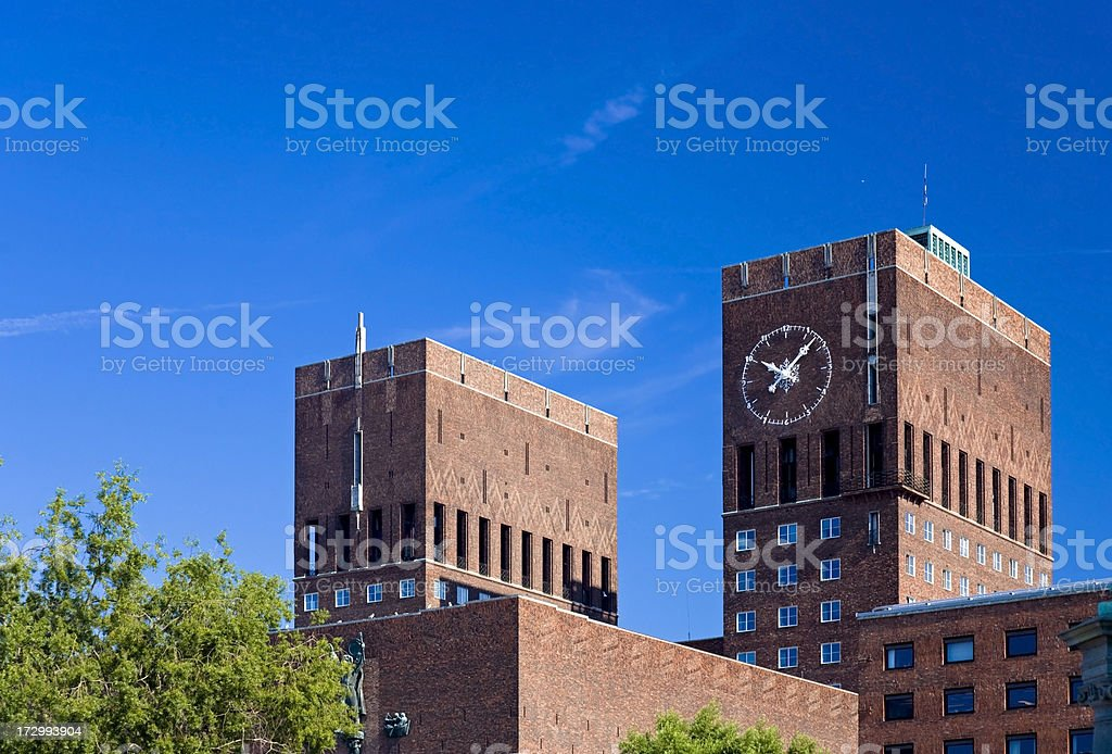 Oslo City Hall royalty-free stock photo