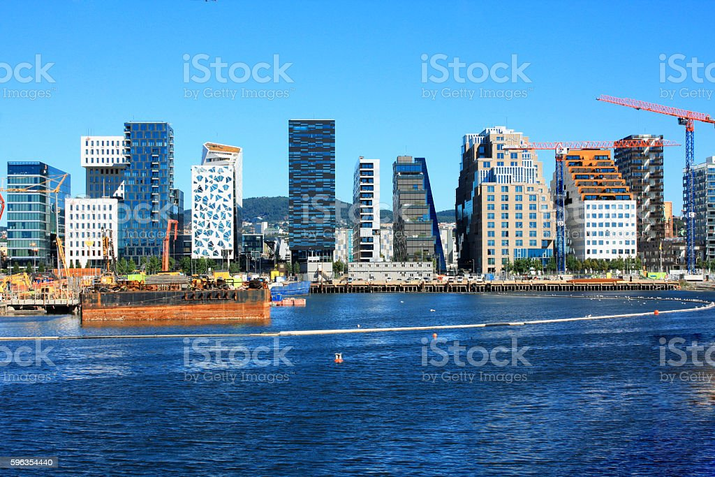Oslo - cityscape is great attractions in a summer day royalty-free stock photo