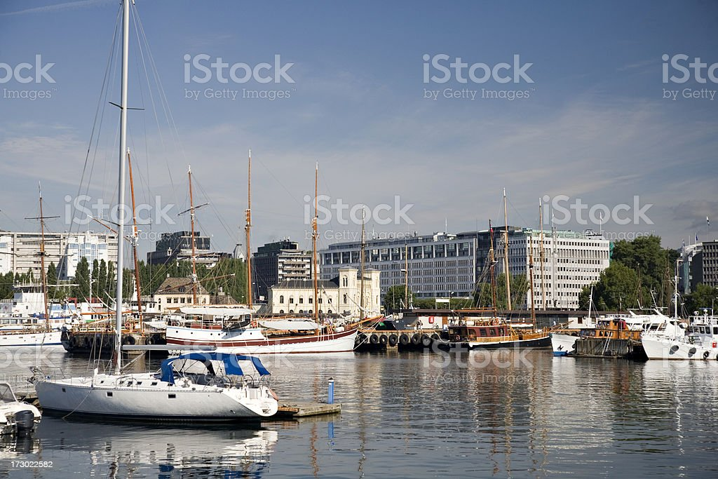 Oslo Harbor Norway royalty-free stock photo