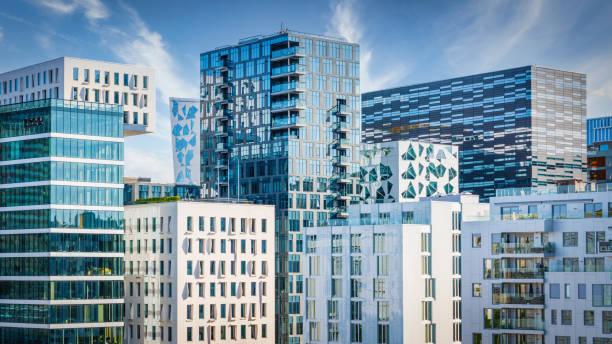 Oslo Modern Architecture Urban Skyline Panorama Norway