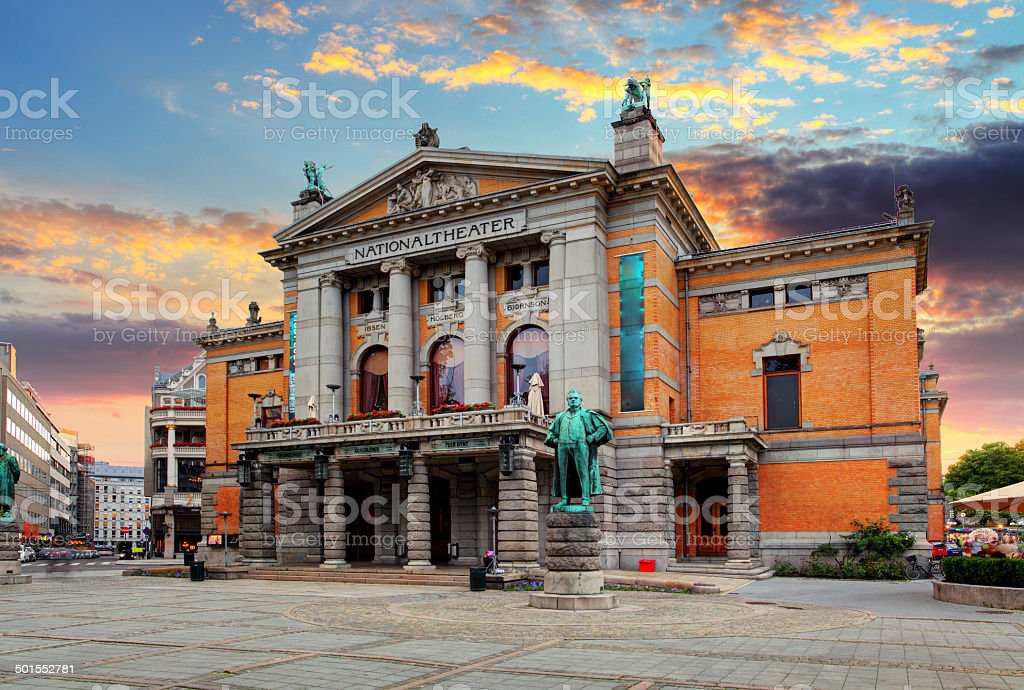Oslo national theatre, Norway royalty-free stock photo