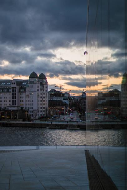 Oslo Opera House stock photo