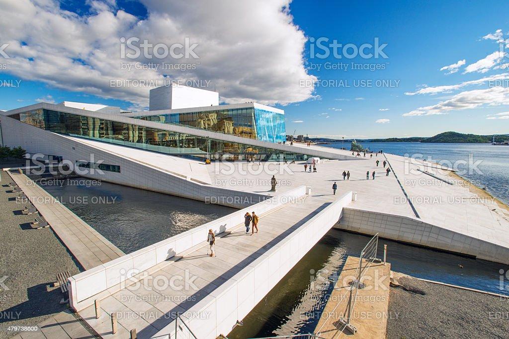 Oslo Opera House view stock photo