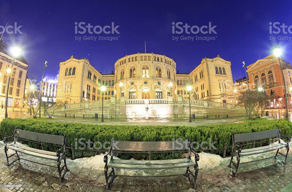 Oslo Parliament Norway royalty-free stock photo