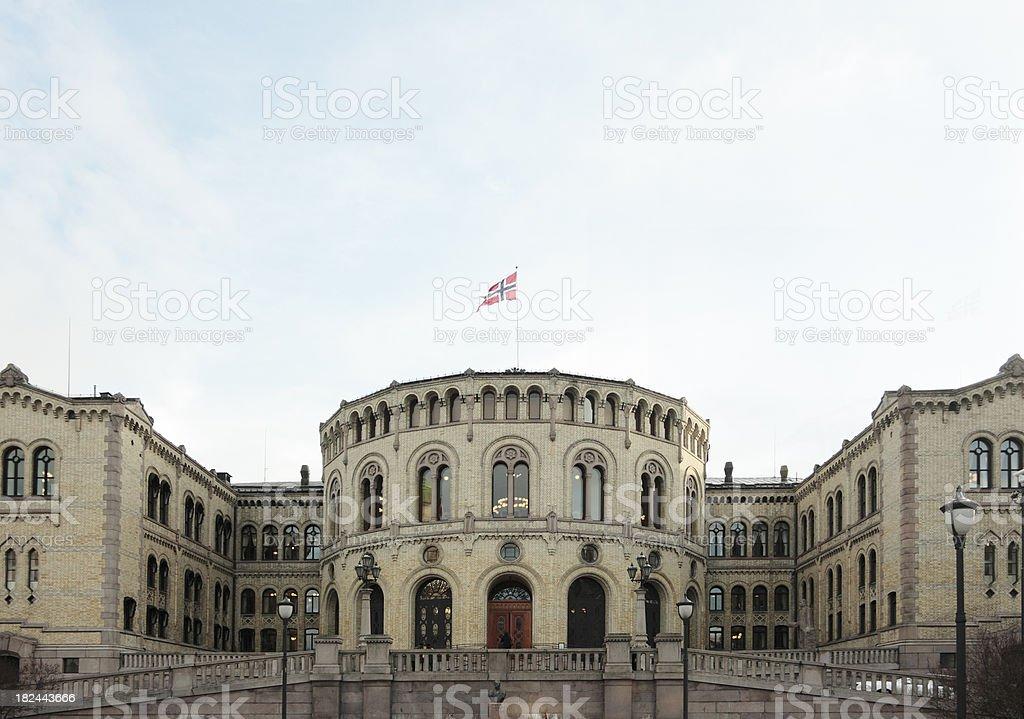 Oslo Parliament royalty-free stock photo