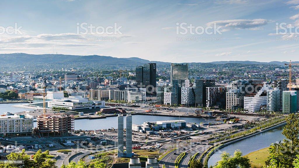 Oslo Skyline, Norway stock photo