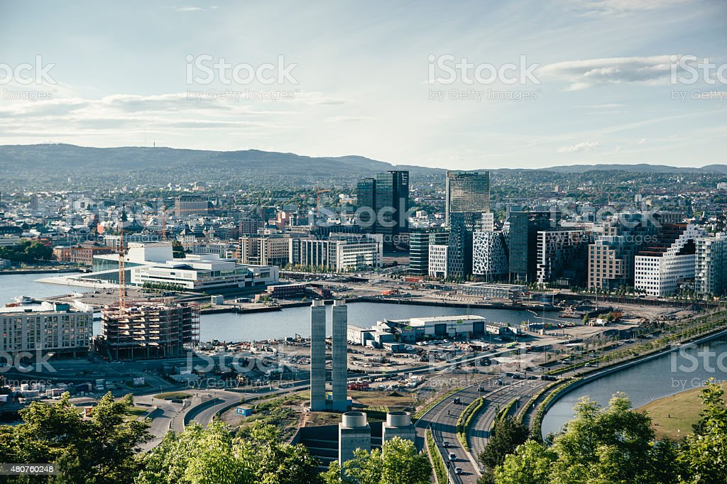 Oslo Skyline stock photo