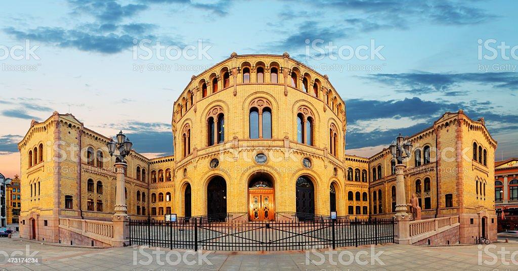 Oslo stortinget parliament, Norway stock photo