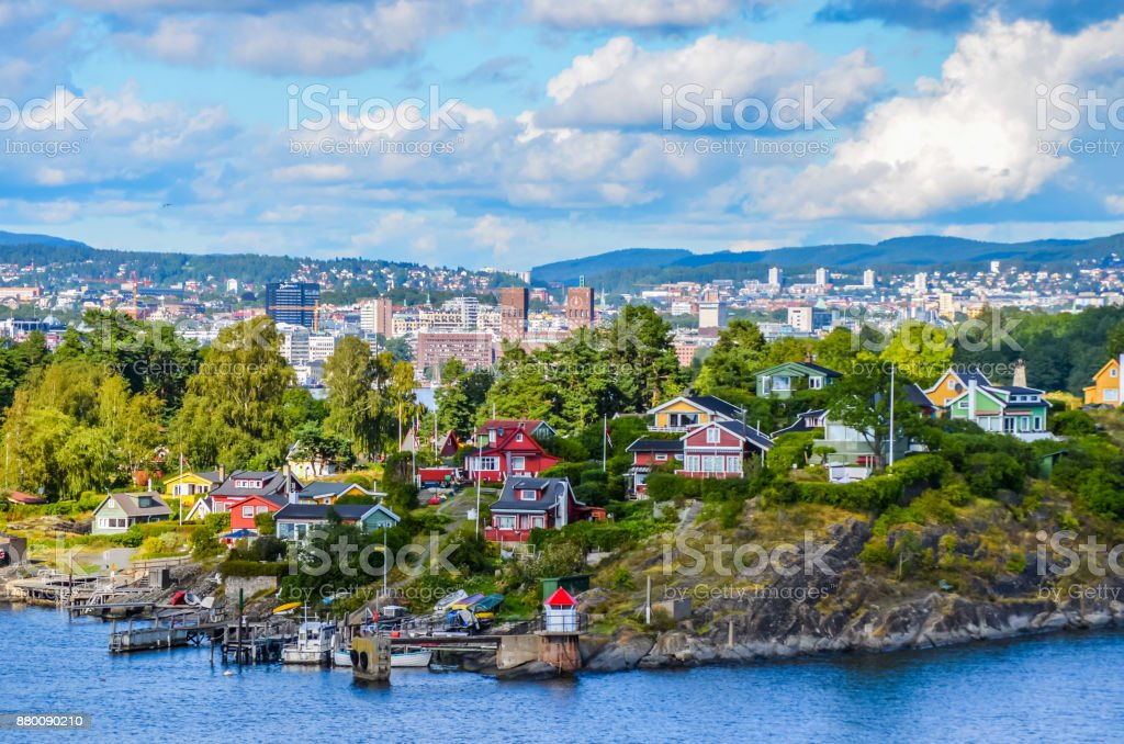 Oslo the city in the fjord stock photo
