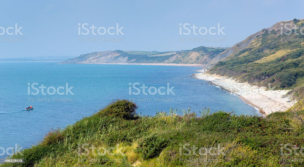 Osmington Mills coast of Dorset direction of Weymouth stock photo