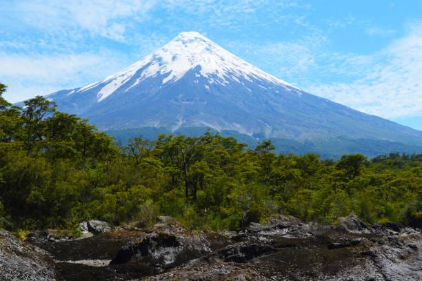 Osorno volcano in Chile stock photo