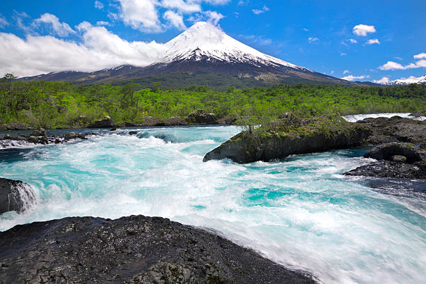 Osorno Volcano in Chilean Lake District stock photo