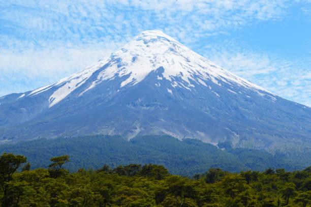 Osorno volcano in southern Chile stock photo