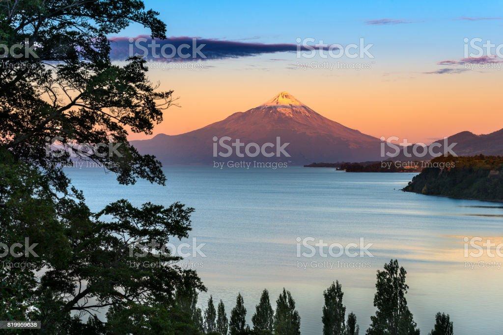 Osorno Volcano stock photo