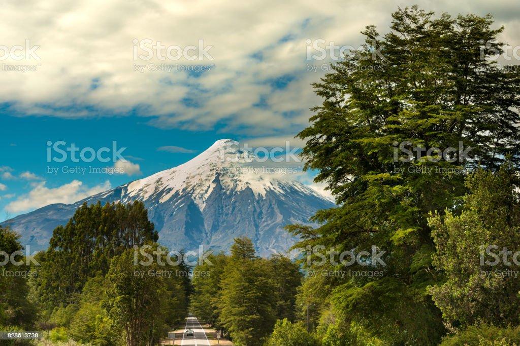 Volcán Osorno - foto de stock
