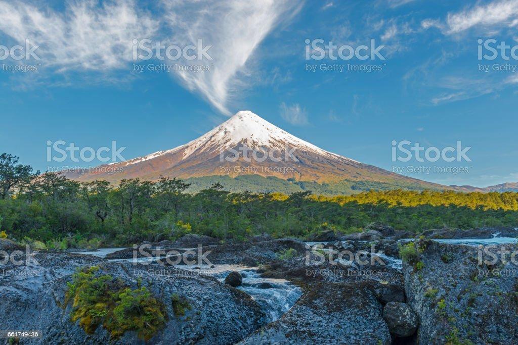Osorno Volcano Sunrise stock photo
