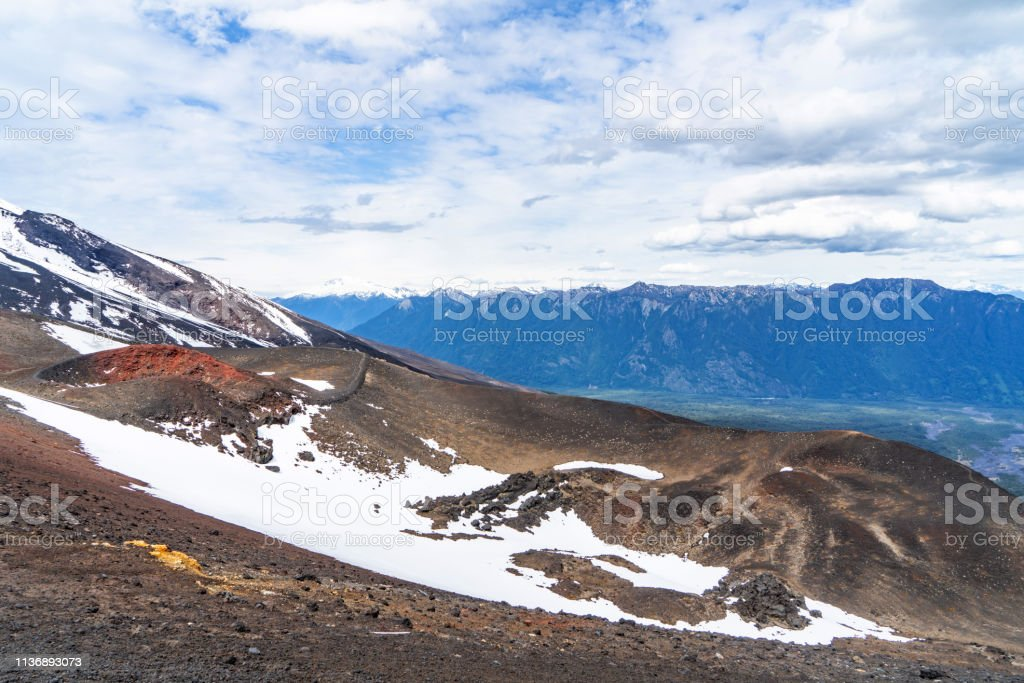 Osorno Volcano view in Chilean Lake District - Puerto Varas, Chile stock photo