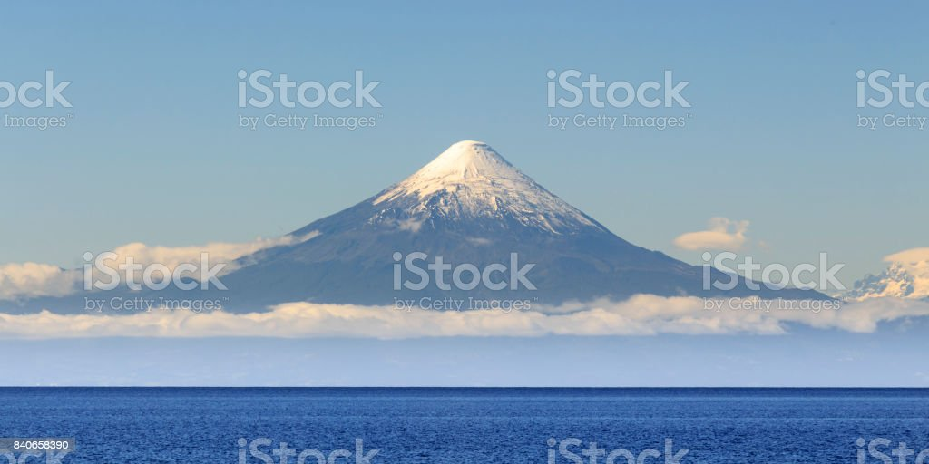 Osorno volcanoe stock photo