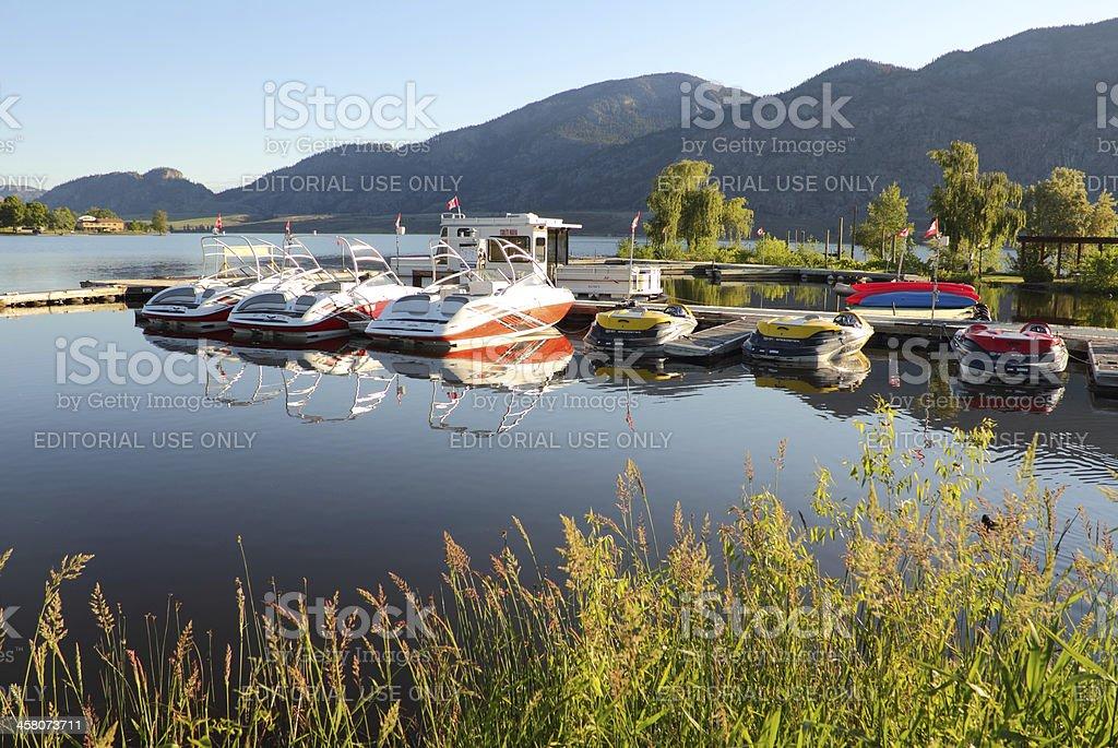 Osoyoos Lake Marina Morning stock photo