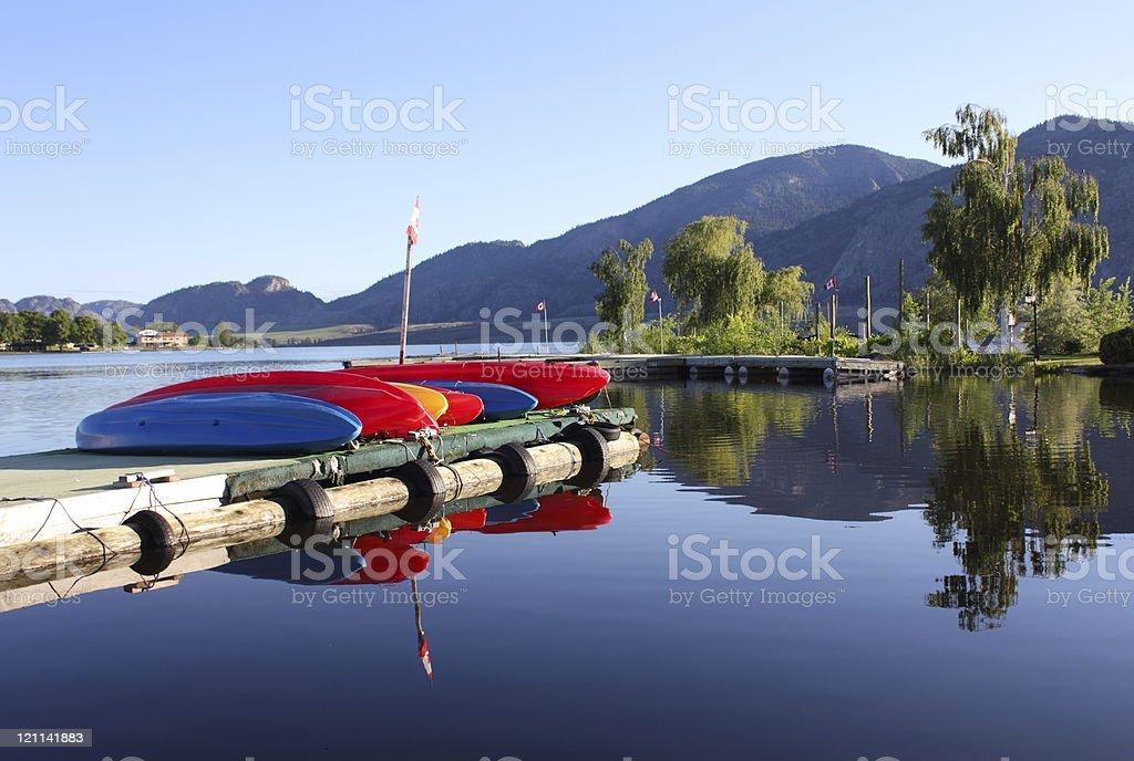 Osoyoos Lake Morning, BC, Canada stock photo