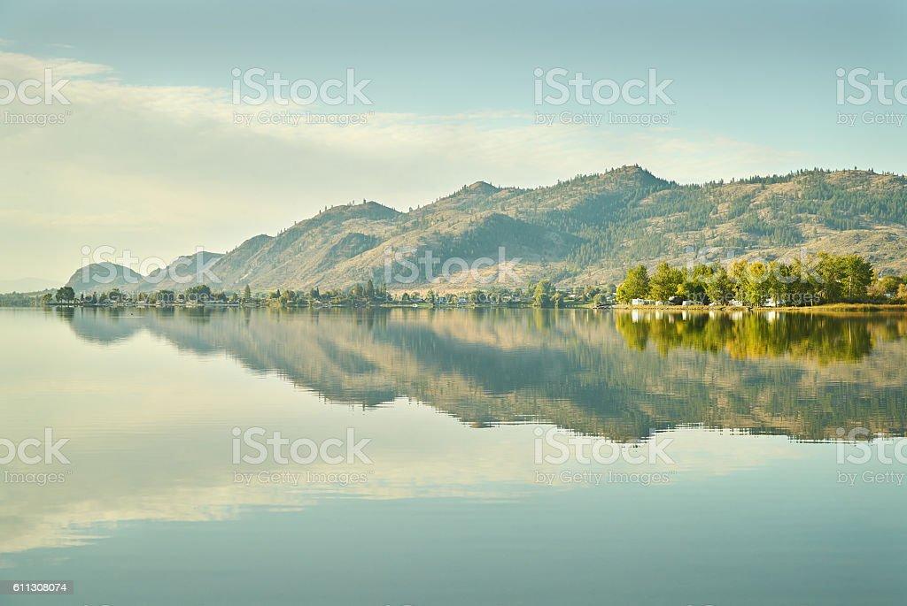 Osoyoos Lake Morning, British Columbia stock photo